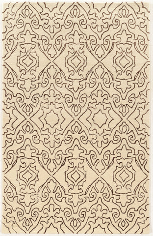Linon Aspire Collection RUGAE21 Ivory/Charcoal Area Rug main image