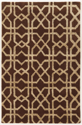 Linon Aspire Collection RUGAE23 Brown/Sand Area Rug main image