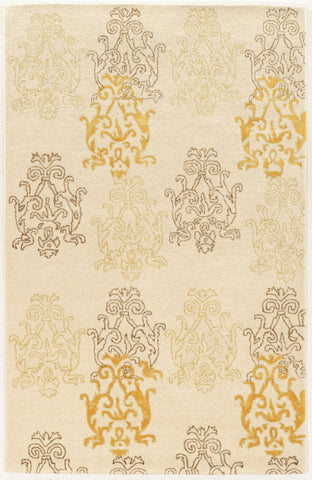 Linon Aspire Collection RUGAE24 Ivory/Gold Area Rug main image