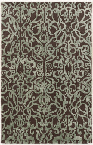 Linon Aspire Collection RUGAE25 Smoke/Aqua Area Rug main image