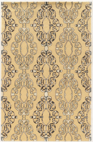 Linon Aspire Collection RUGAE27 Cream/Blue Area Rug main image
