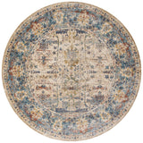 Loloi Anastasia AF-07 Sand / Light Blue Area Rug 7'10'' X 7'10'' Round