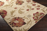 Surya Alfredo AFR-3300 Beige Machine Loomed Area Rug Corner Shot