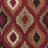 Surya Alfredo AFR-3306 Burgundy Machine Loomed Area Rug Sample Swatch