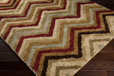 Surya Alfredo AFR-3317 Burgundy Machine Loomed Area Rug Corner Shot