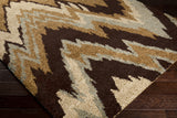 Surya Alfredo AFR-3322 Chocolate Machine Loomed Area Rug Corner Shot
