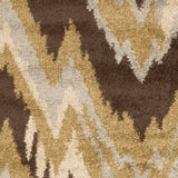 Surya Alfredo AFR-3322 Chocolate Machine Loomed Area Rug Sample Swatch