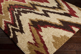 Surya Alfredo AFR-3323 Burgundy Machine Loomed Area Rug Corner Shot