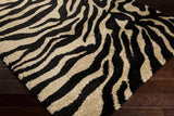 Surya Alfredo AFR-3325 Black Machine Loomed Area Rug Corner Shot