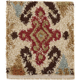 Surya Alfredo AFR-3326 Beige Machine Loomed Area Rug 16'' Sample Swatch