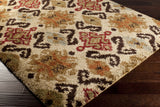 Surya Alfredo AFR-3326 Beige Machine Loomed Area Rug Corner Shot
