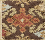 Surya Alfredo AFR-3329 Chocolate Machine Loomed Area Rug 16'' Sample Swatch