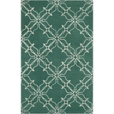 Surya AIW-4008 Emerald/Kelly Green Area Rug by Aimee Wilder 5' x 8'