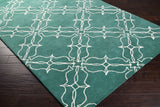 Surya AIW-4008 Emerald/Kelly Green Hand Tufted Area Rug by Aimee Wilder 5x8 Corner