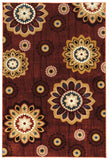 Linon Art Silk Collection RUGAK04 Burgundy/Gold Area Rug main image