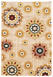 Linon Art Silk Collection RUGAK05 Cream/Gold Area Rug main image
