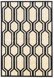 Linon Art Silk Collection RUGAK07 Cream/Navy Area Rug main image
