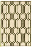 Linon Art Silk Collection RUGAK08 Cream/Green Area Rug main image