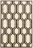 Linon Art Silk Collection RUGAK10 Cream/Brown Area Rug main image