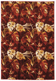 Linon Art Silk Collection RUGAK12 Red/Cream Area Rug main image
