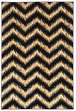 Linon Art Silk Collection RUGAK16 Navy/Cream Area Rug main image