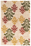 Linon Art Silk Collection RUGAK20 Ivory/Green Area Rug main image
