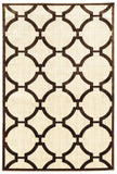 Linon Art Silk Collection RUGAK23 Ivory/Brown Area Rug main image