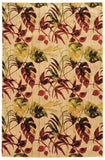 Linon Art Silk Collection RUGAK28 Ivory/Gold Area Rug main image