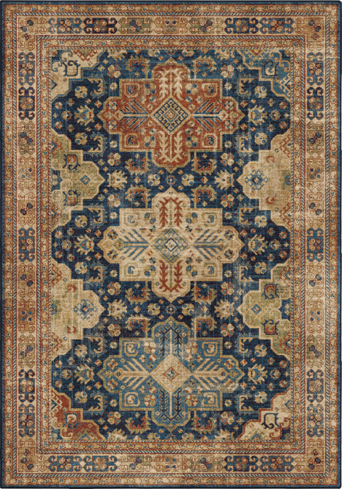 Orian Rugs Alexandria Akstafa Navy Thatch Area Rug by Palmetto Living main image