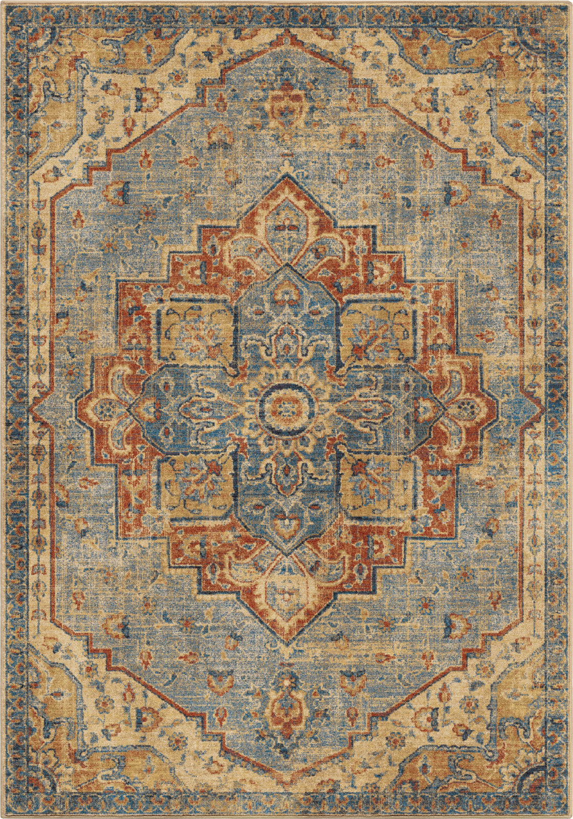 Orian Rugs Alexandria King Fisher Pale Blue Area Rug by Palmetto Living main image
