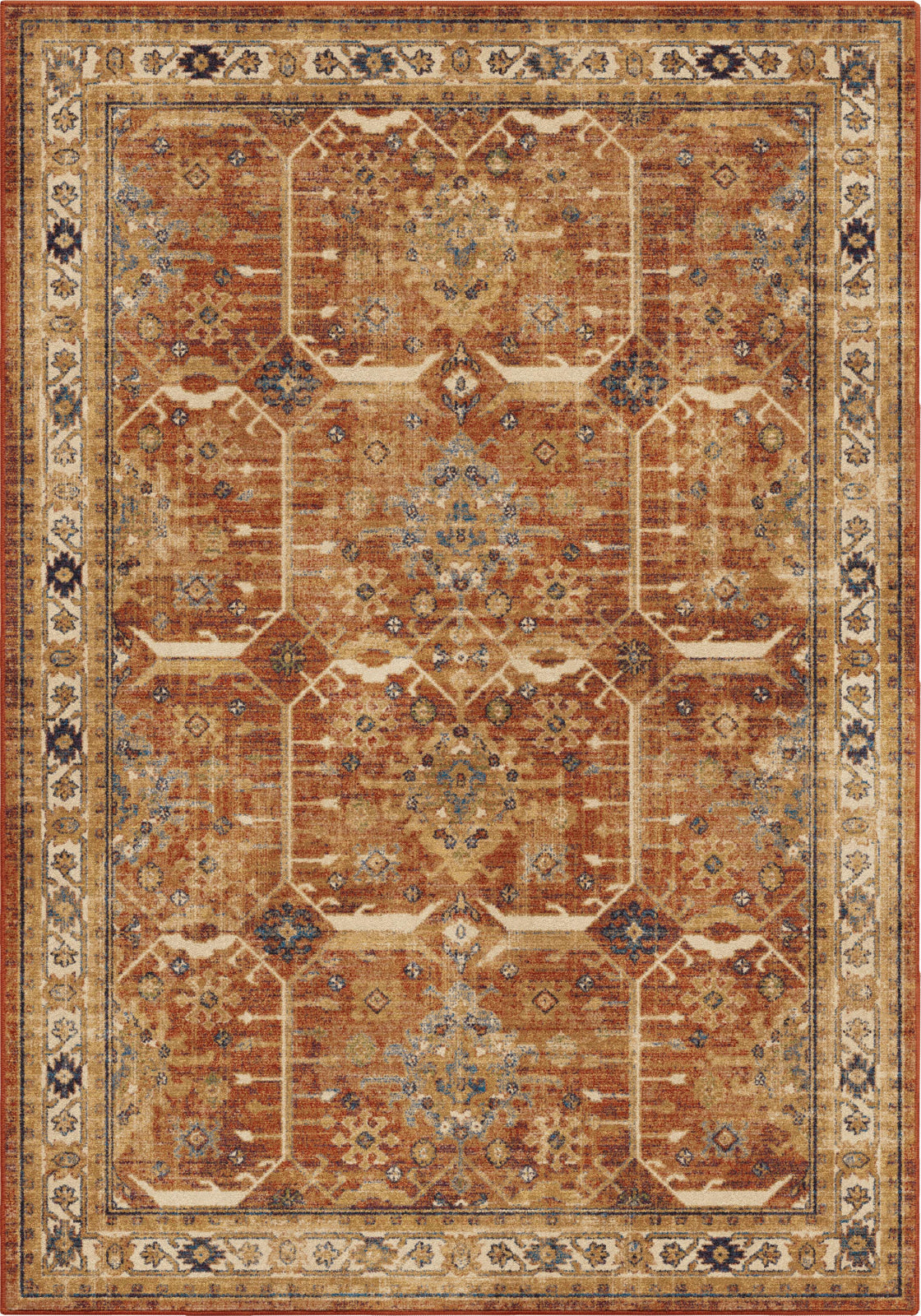 Orian Rugs Alexandria Tazum Red Faded Area Rug by Palmetto Living main image
