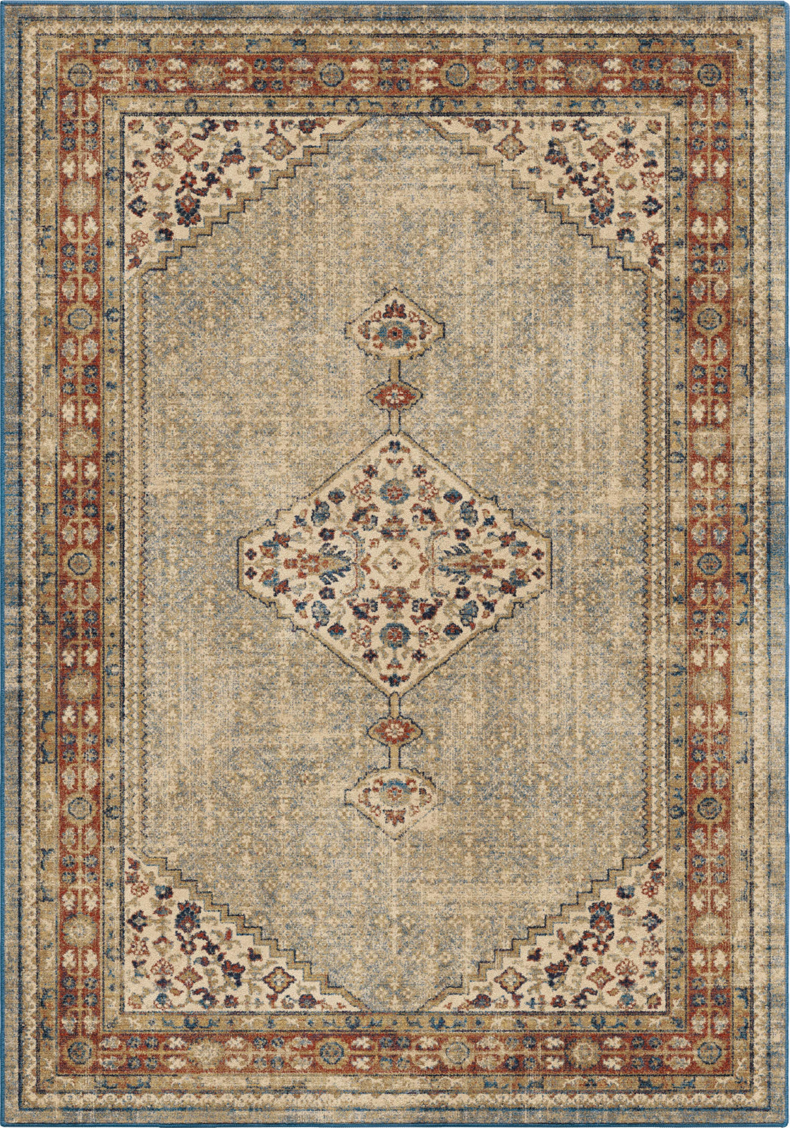 Orian Rugs Alexandria Ouman Blue Thatch Area Rug by Palmetto Living main image