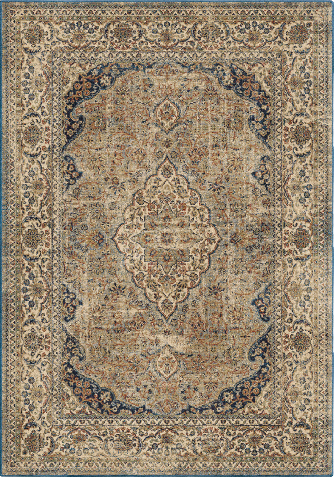 Orian Rugs Alexandria Kerman Estate Blue Thatch Area Rug by Palmetto Living main image