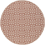 Surya Alfresco ALF-9600 Cherry Area Rug 7'3'' Round