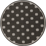 Surya Alfresco ALF-9608 Black Area Rug 7'3'' Round