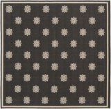 Surya Alfresco ALF-9608 Black Area Rug 7'3'' Square