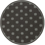 Surya Alfresco ALF-9609 Gray/Black Area Rug 7'3'' Round