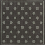 Surya Alfresco ALF-9609 Gray/Black Area Rug 7'3'' Square