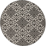 Surya Alfresco ALF-9637 Black Area Rug 7'3'' Round