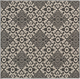 Surya Alfresco ALF-9637 Black Area Rug 7'3'' Square