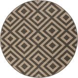 Surya Alfresco ALF-9641 Black Area Rug 7'3'' Round
