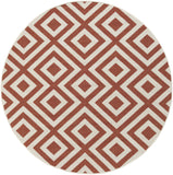 Surya Alfresco ALF-9642 Cherry Area Rug 7'3'' Round
