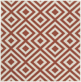 Surya Alfresco ALF-9642 Cherry Area Rug 7'3'' Square