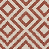 Surya Alfresco ALF-9642 Cherry Machine Loomed Area Rug Sample Swatch