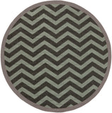 Surya Alfresco ALF-9643 Moss Machine Loomed Area Rug 7'3'' Round