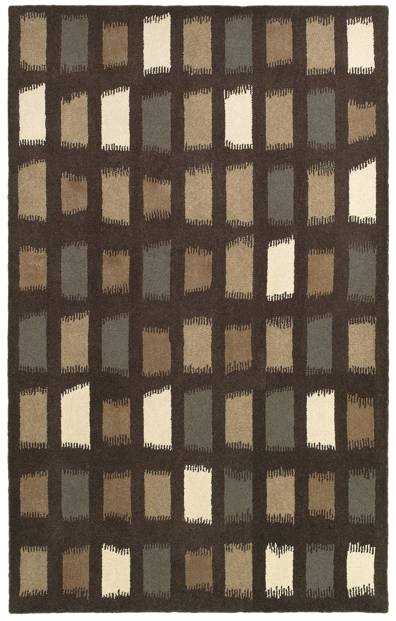 LR Resources Allure 03820 Chocolate Area Rug