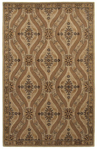 LR Resources Allure 03832 Oatmeal Area Rug