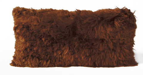 Auskin Luxury Skins Alpaca Cushions Copper