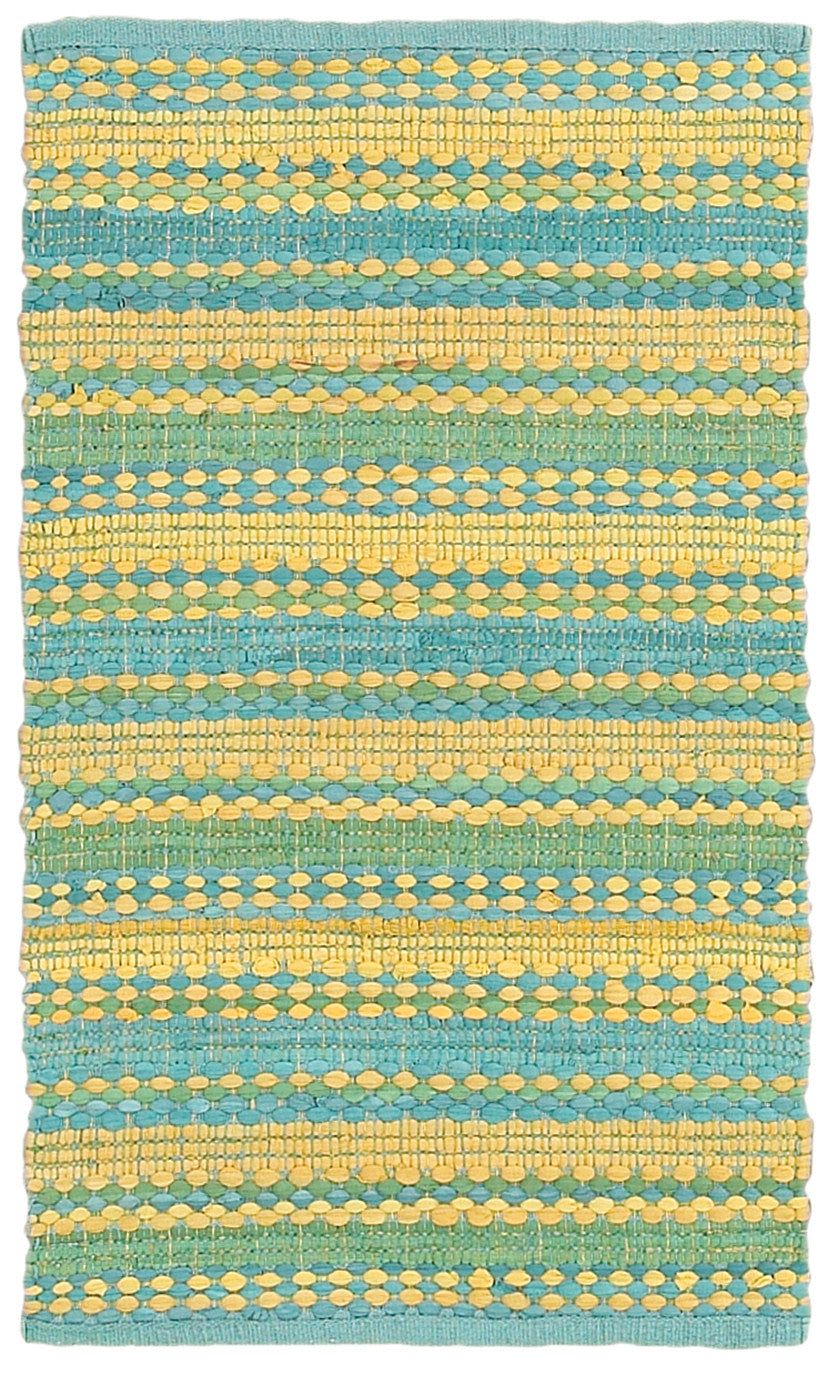 LR Resources Altair 03349 Blue/Yellow Area Rug