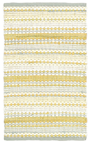 LR Resources Altair 03350 Yellow/Gray Area Rug